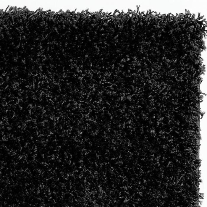 nazar trendy tapis de couloir shaggy noir 80x300 cm 288161. Black Bedroom Furniture Sets. Home Design Ideas