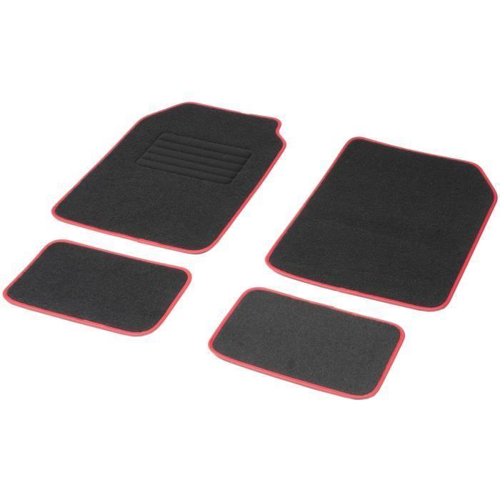aucune jeu de 4 tapis universels aston ganse luxe rouge. Black Bedroom Furniture Sets. Home Design Ideas