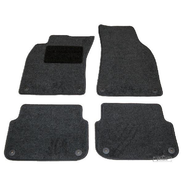 Tapis de sol textile X4 - Audi A6 -4F- ap04