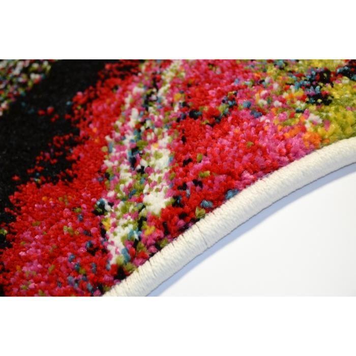 Nazar nazar tapis de salon rio 160x230 cm rouge noir et - Tapis de salon noir et blanc ...