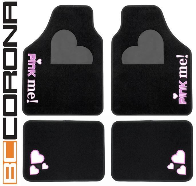 adnautomid jeu de 4 tapis de sol pink me noir bc corona 105397. Black Bedroom Furniture Sets. Home Design Ideas