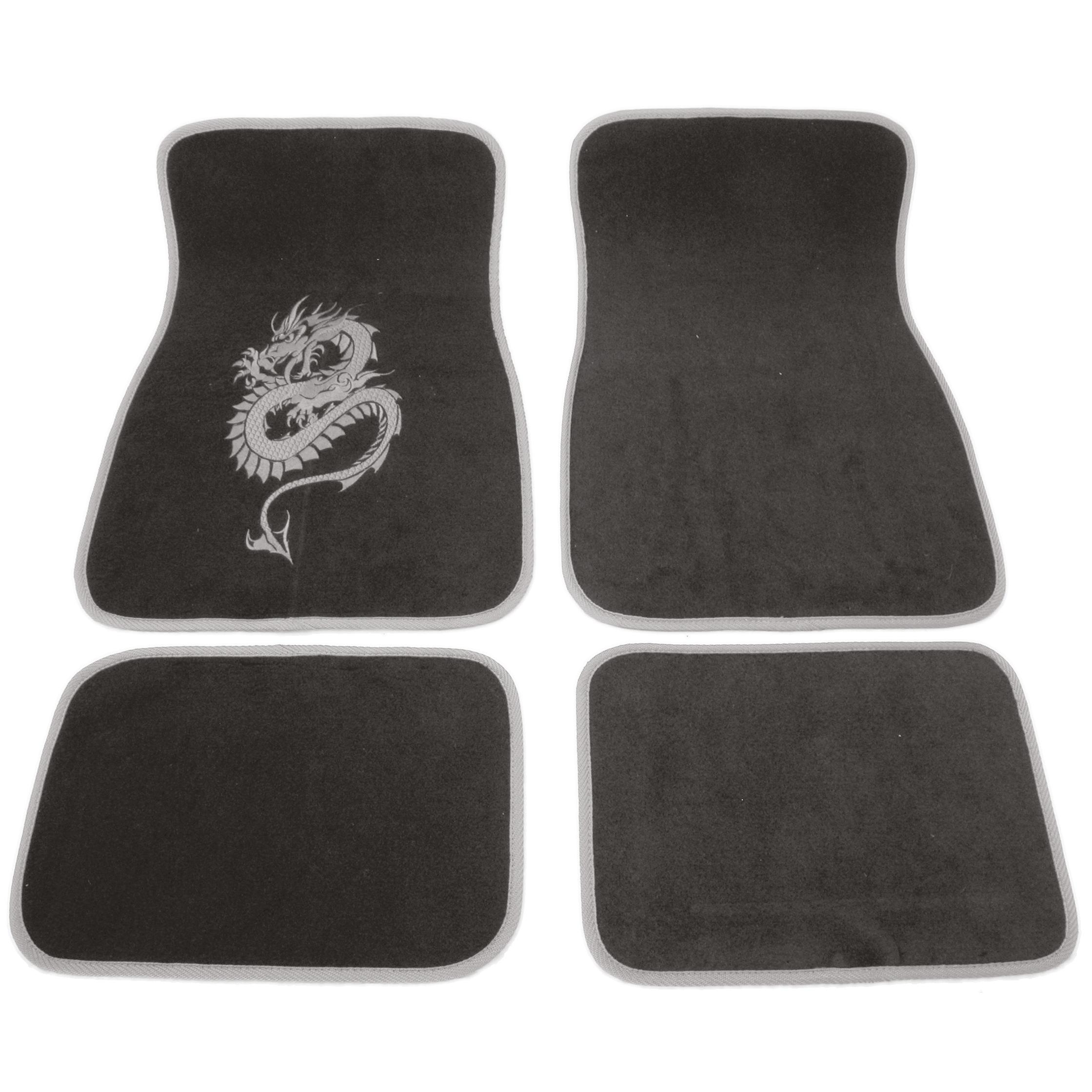 tapis universels adnautomid dragon gris. Black Bedroom Furniture Sets. Home Design Ideas