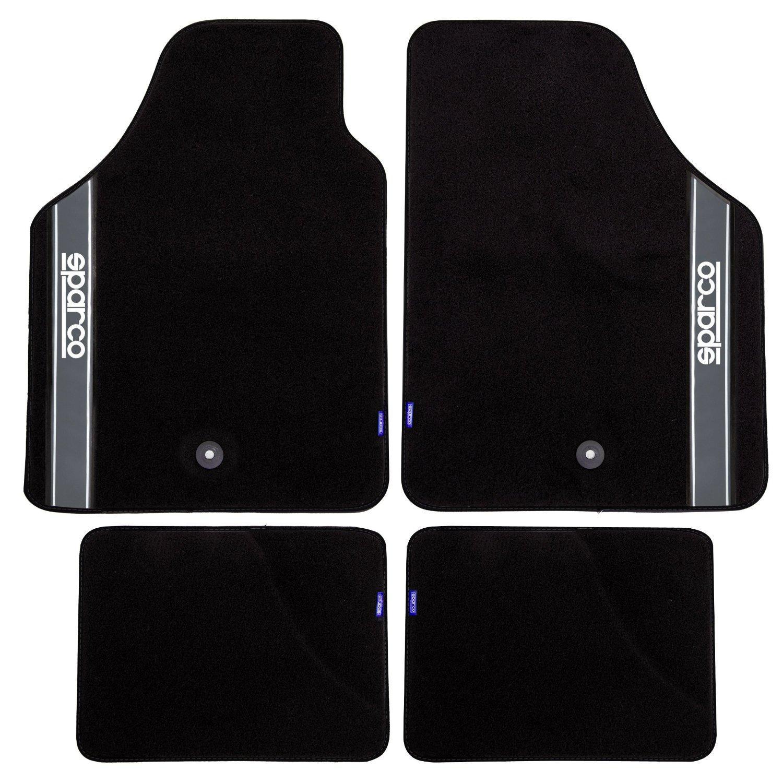 sparco tapis universel tissu noir gris 351327. Black Bedroom Furniture Sets. Home Design Ideas