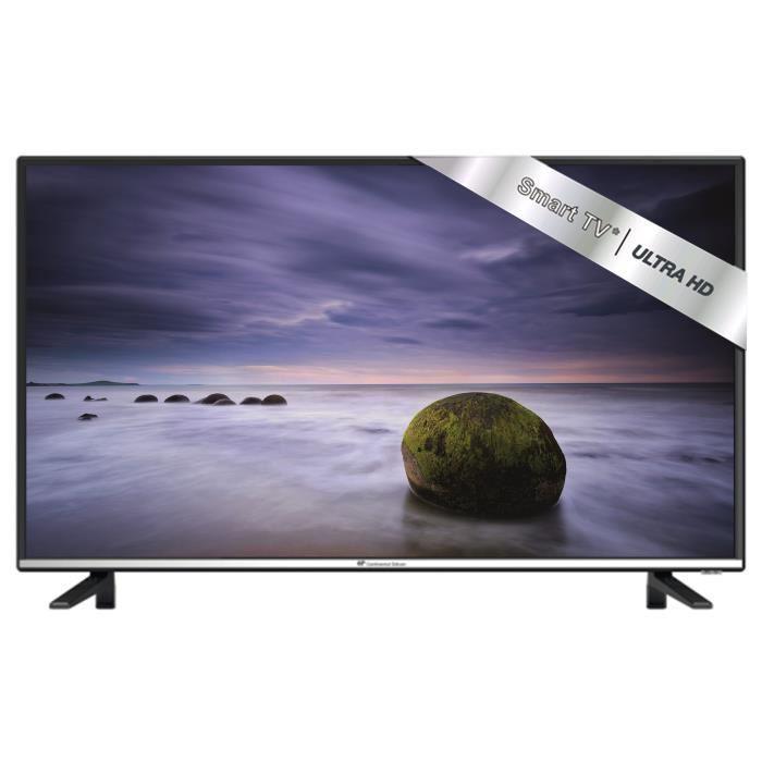 continental edison 40ka0816b7 tv led 4k uhd 102cm 40 smart tv android hdmi noir 431468. Black Bedroom Furniture Sets. Home Design Ideas