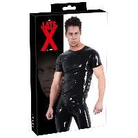 Tenue LateX - Tee Shirt en Latex - S - epaisseur 0.4mm - Noir