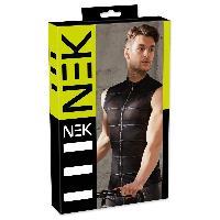 Tenue Nek - Debardeur Translucide avec Zip noir - XL
