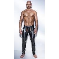 Tenues homme Noir Handmade - Chaps Noir Powerwetlook H042 - 3XL