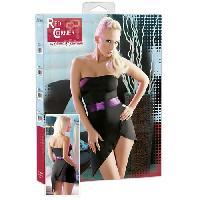 Tenues Sexy Cottelli - Robe fendue noire et violette - Taille XS