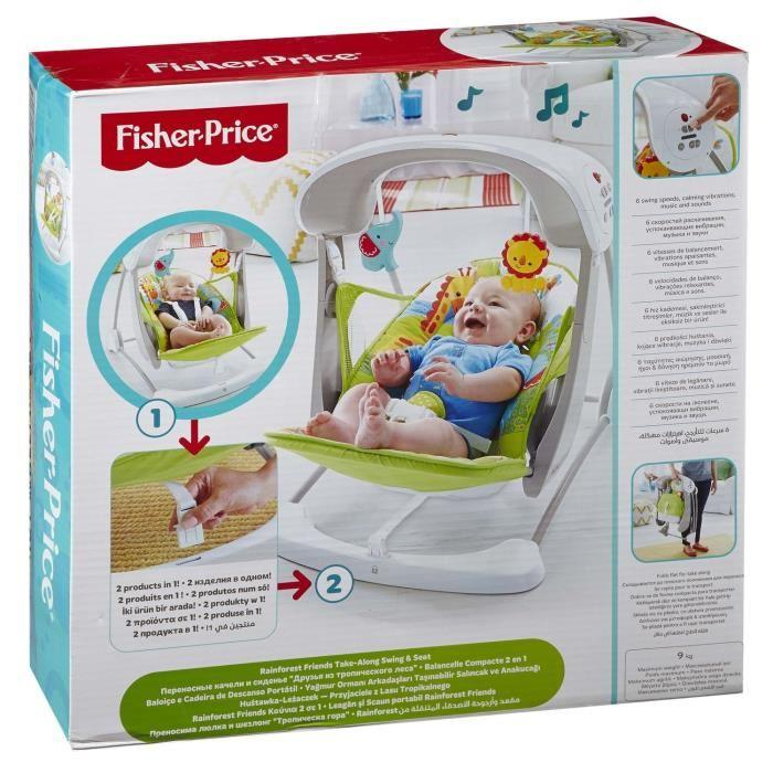 fisher price fisher price balancelle compacte 2 en 1 345432. Black Bedroom Furniture Sets. Home Design Ideas