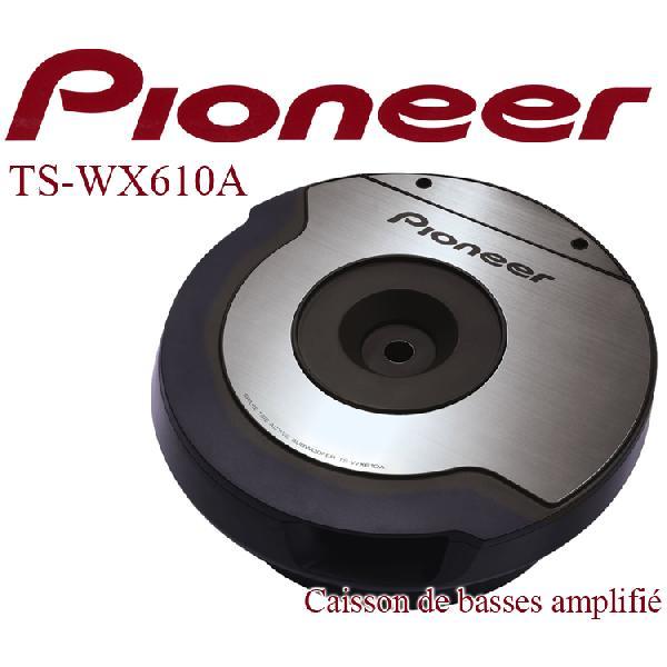 TS-WX610A - Caisson de basse Actif 2x10 cm - 2x100W - Avec Ampli - Special roue de secours