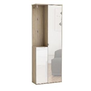 richelieu vestiaire 68cm d cor chene bross et blanc. Black Bedroom Furniture Sets. Home Design Ideas