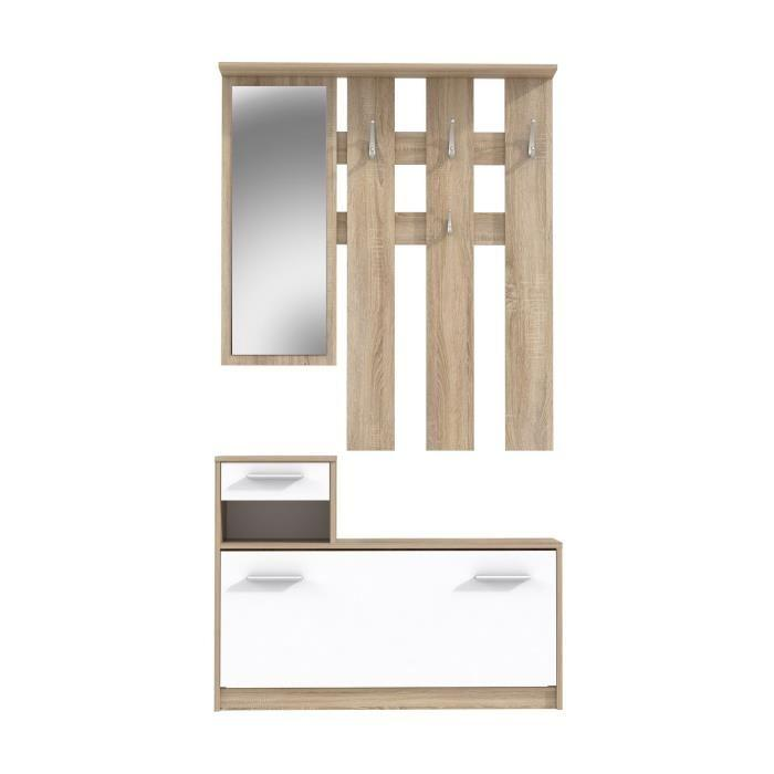 finlandek salon finlandek vestiaire peili 180cm blanc chene 349670. Black Bedroom Furniture Sets. Home Design Ideas