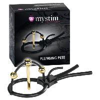 Vibros High Tech LRDP - Bracelet pour penis Plunging Pete - Noir/Or - Taille 15cm - Mystim