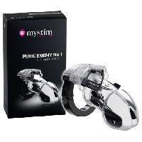Vibros High Tech LRDP - Cage de penis Enemy No 1 - Transparent - Taille 9cm - Mystim