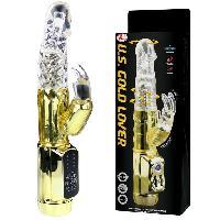 Vibros Rabbits Baile - Vibromasseur rotatif a perles Gold Rabbit Prince