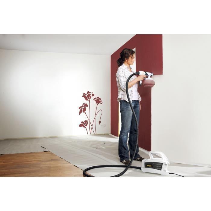wagner pistolet a peinture basse pression wall sprayer w500 pour les peintures murales 348093. Black Bedroom Furniture Sets. Home Design Ideas